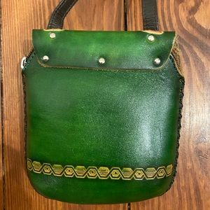 Unlisted Bags - Small green owl leather purse